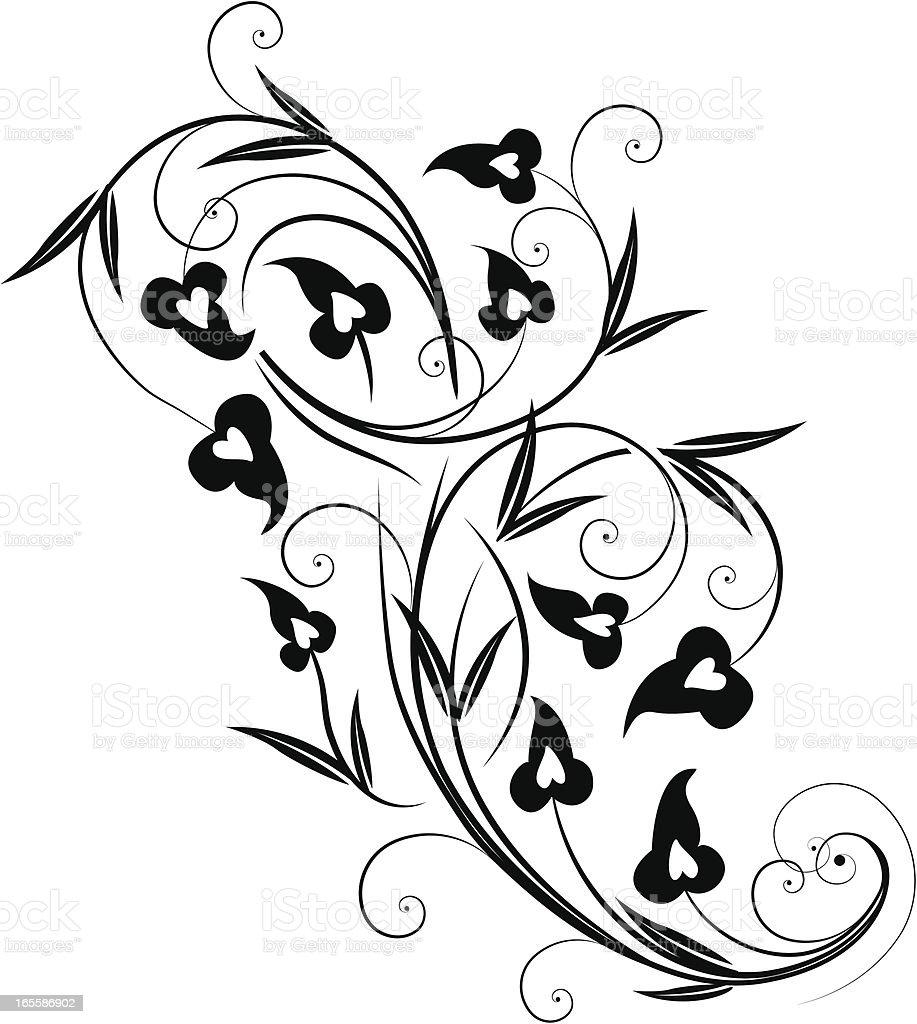 Scroll Accent vector art illustration