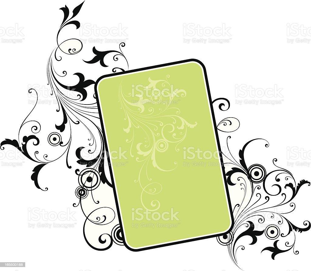 Scroll Advert Design royalty-free stock vector art