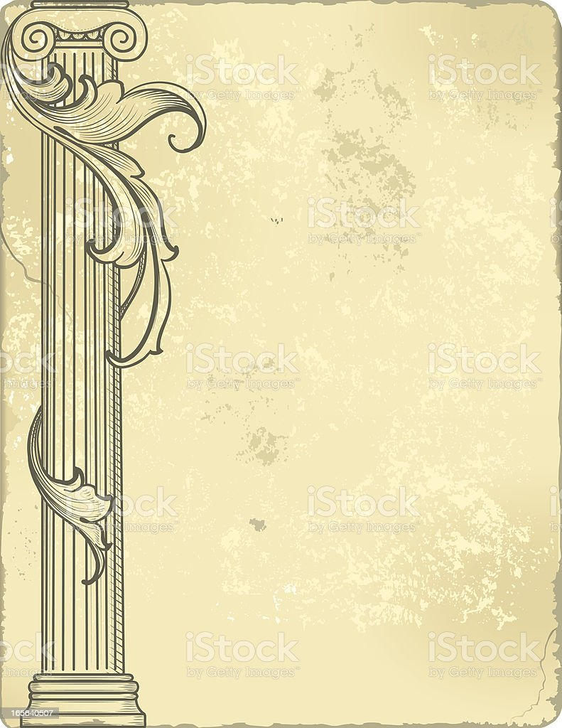 Scroll and Column royalty-free stock vector art