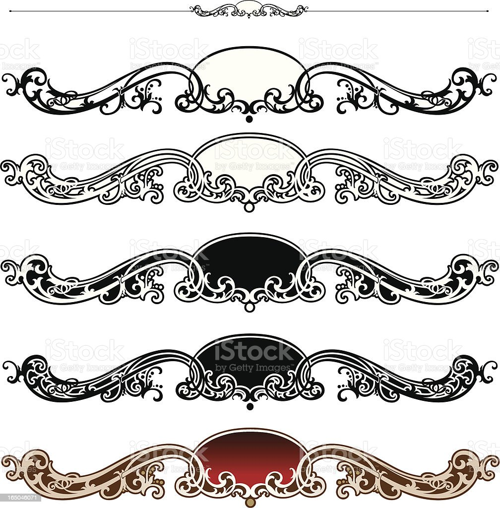 Scroll and Rule royalty-free stock vector art