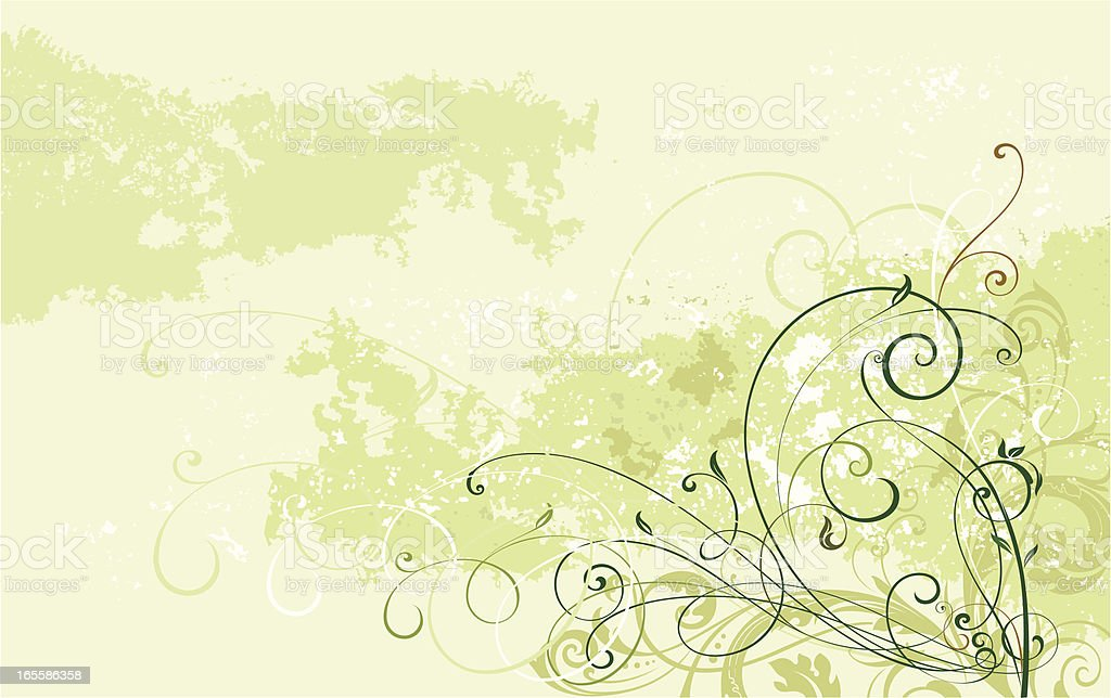 Scroll Art Background royalty-free stock vector art