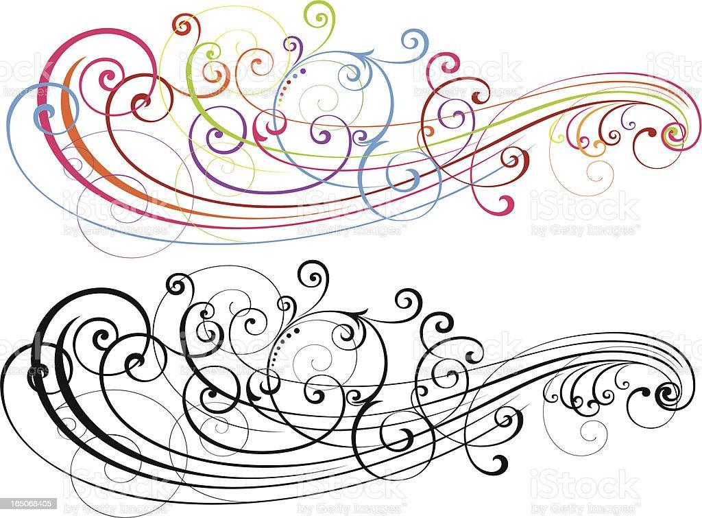 Scroll Art Formation vector art illustration