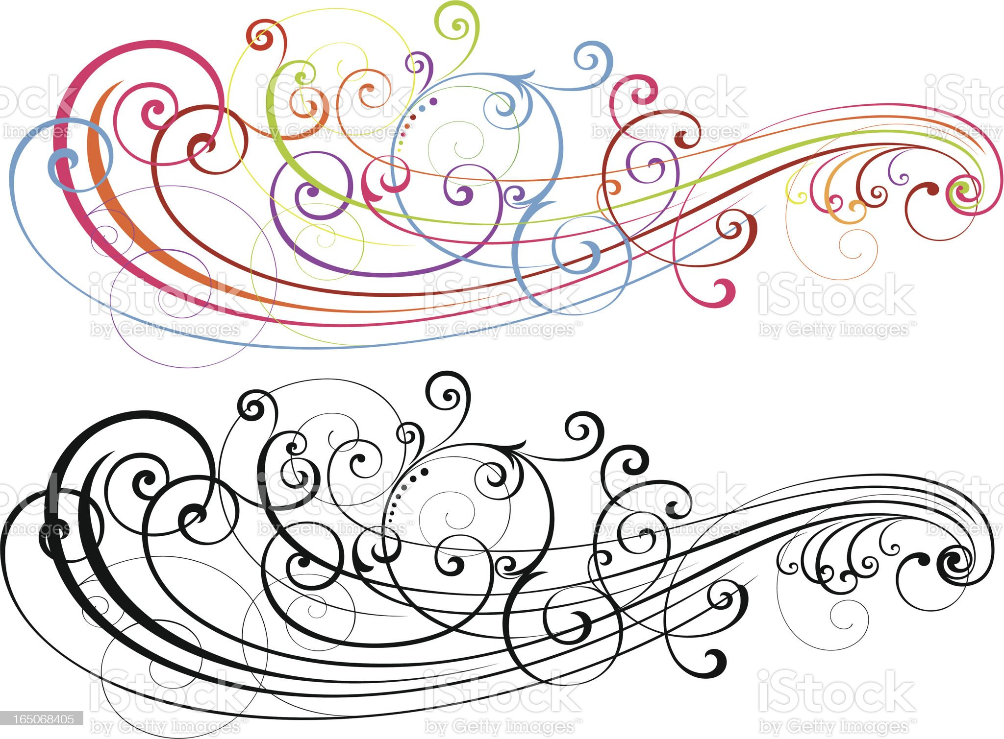 Scroll Art Formation royalty-free stock vector art