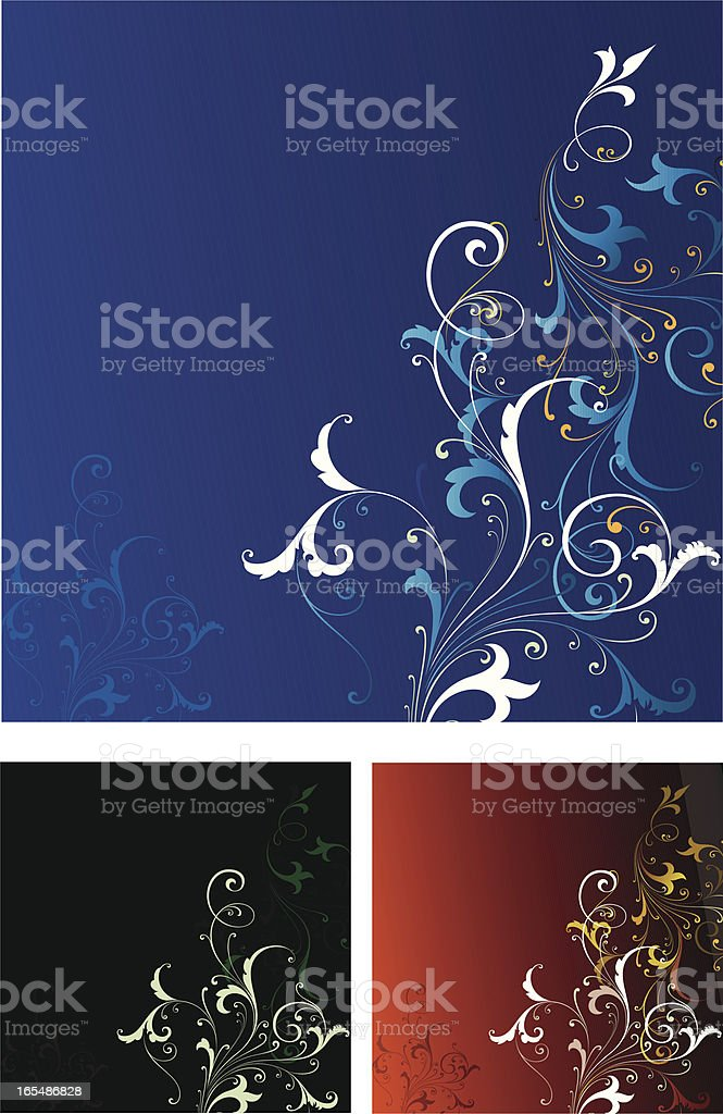 Scroll Background Panel royalty-free stock vector art
