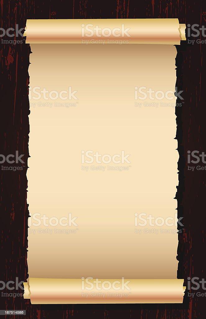 scroll banner royalty-free stock vector art