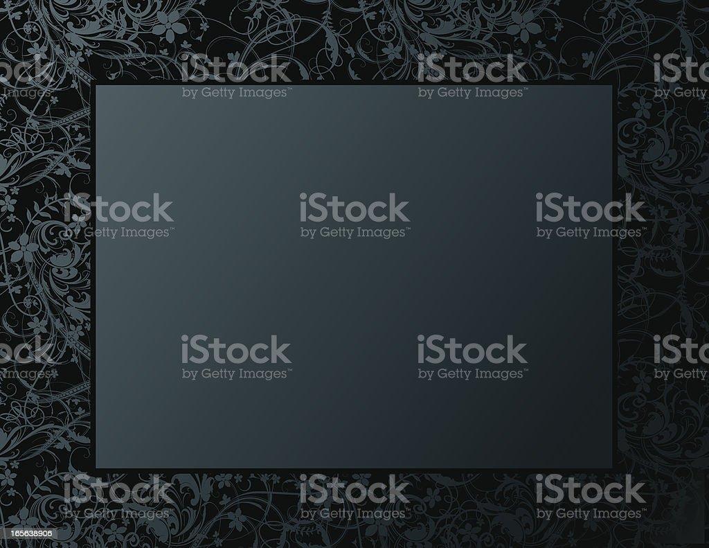 Scroll Border Frame Engraving Design vector art illustration