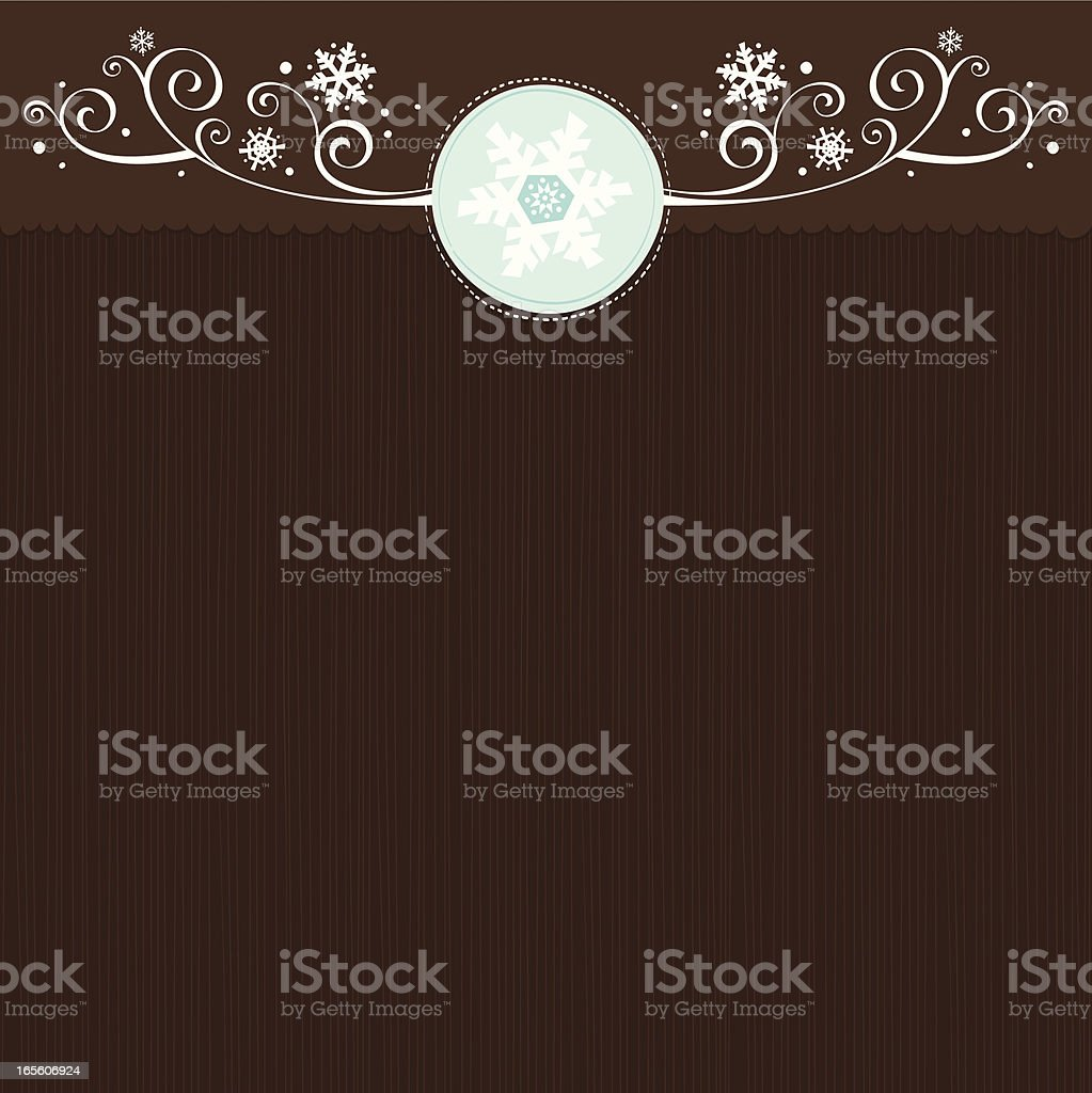 Scroll brown background vector art illustration