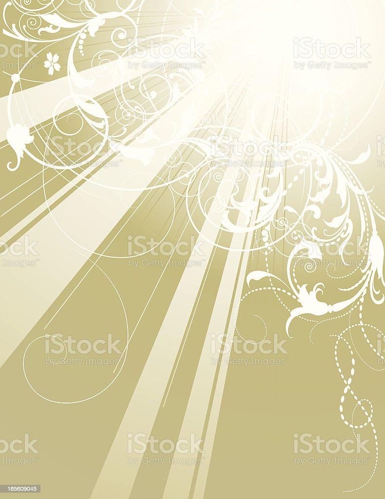 Scroll Burst royalty-free stock vector art