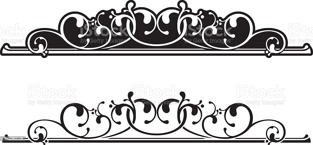 Scroll Centre royalty-free stock vector art