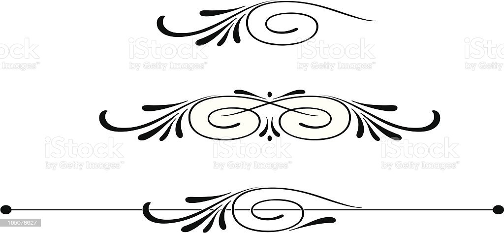 Scroll Centres and Ruleline royalty-free stock vector art