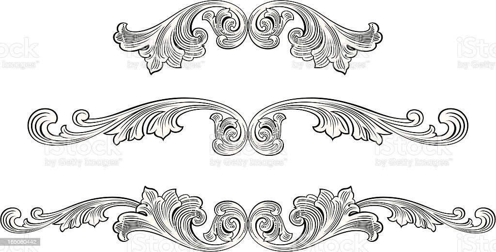 Scroll Centres royalty-free stock vector art