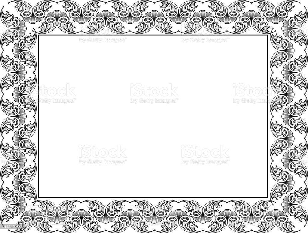 Scroll Certificate royalty-free stock vector art