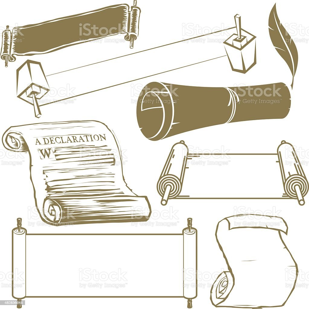 Scroll Collection vector art illustration