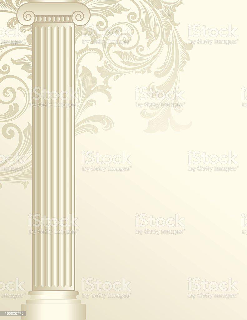Scroll Colulmn vector art illustration