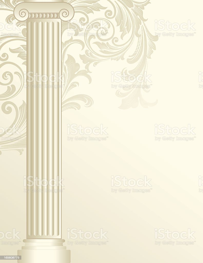 Scroll Colulmn vector art illustration