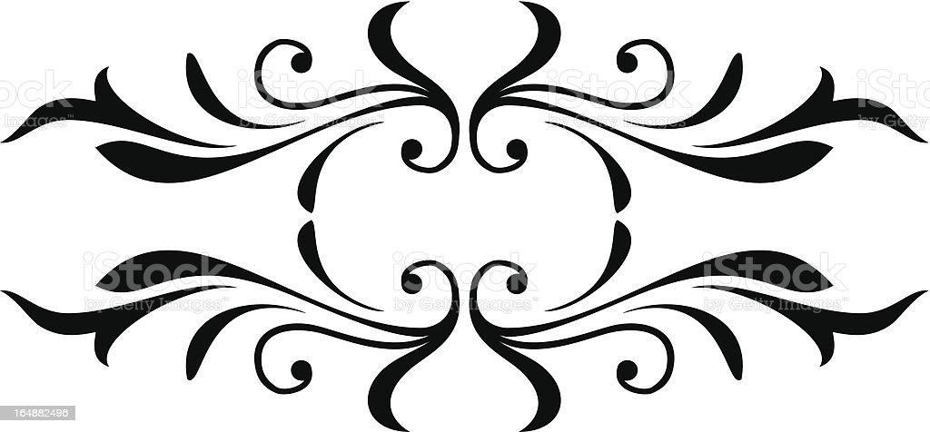 scroll design royalty-free stock vector art