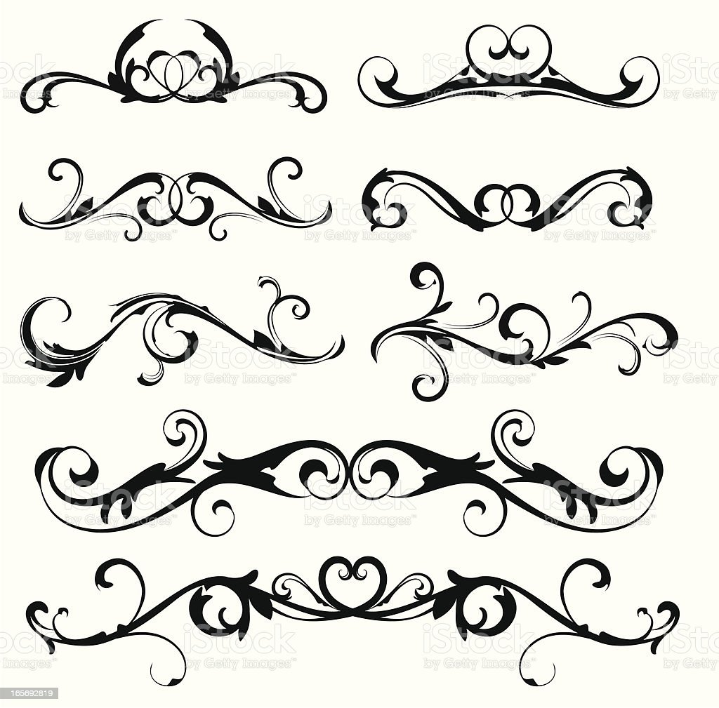 Scroll designs royalty-free stock vector art