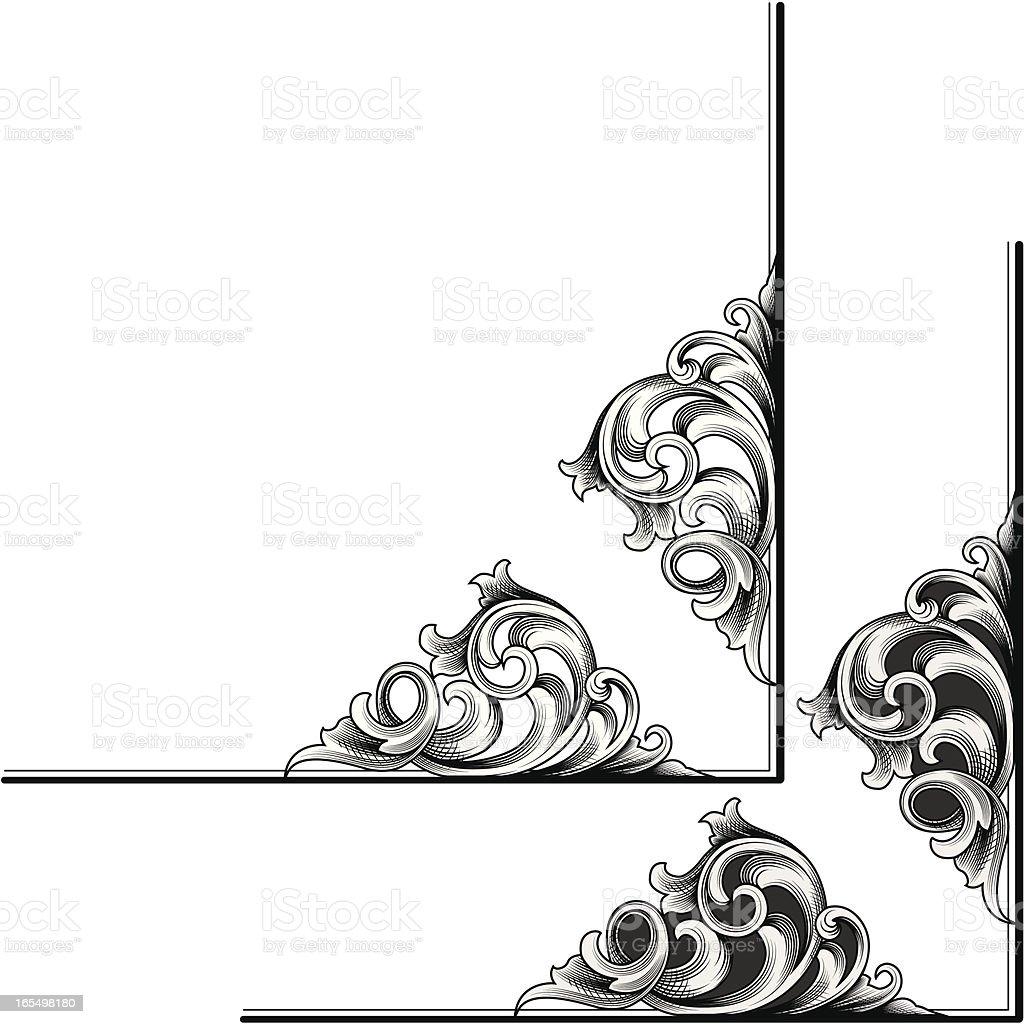 Scroll Edge Corner vector art illustration