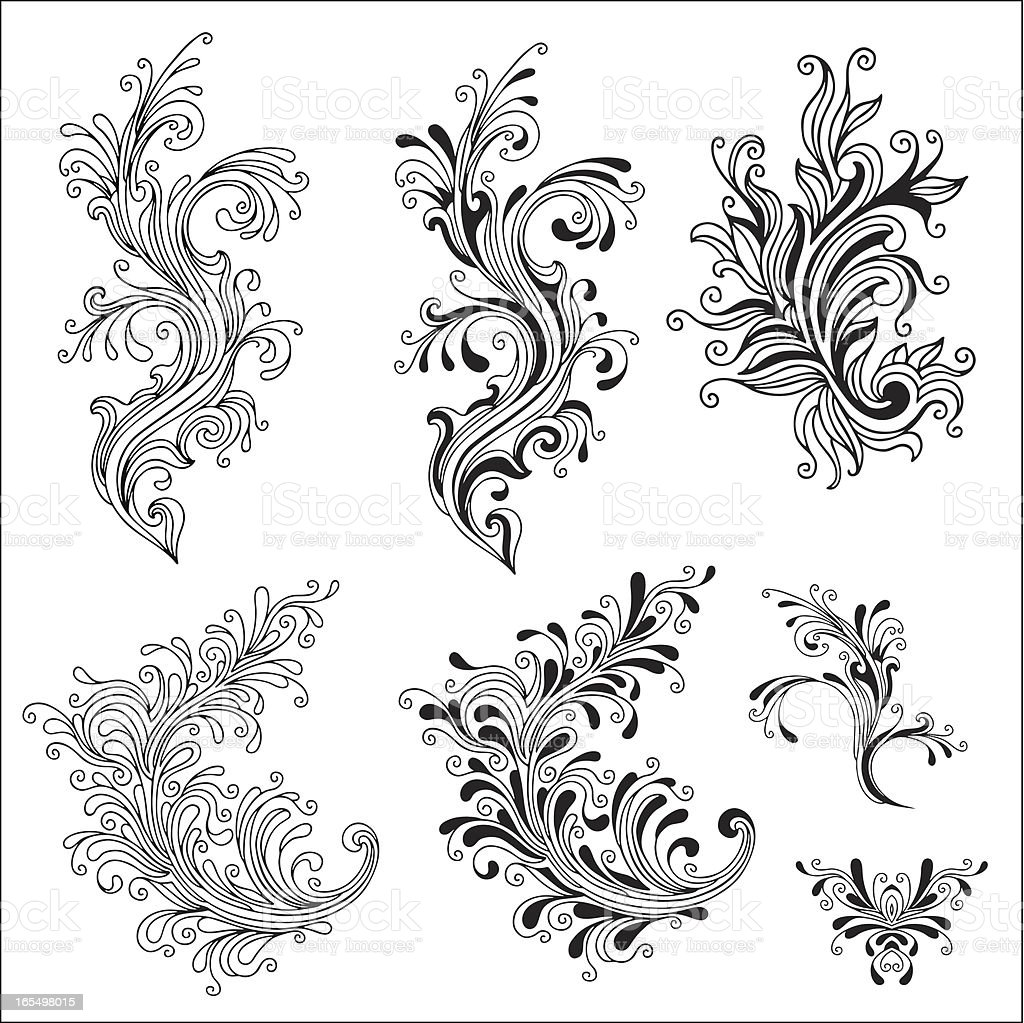 Scroll Elements royalty-free stock vector art