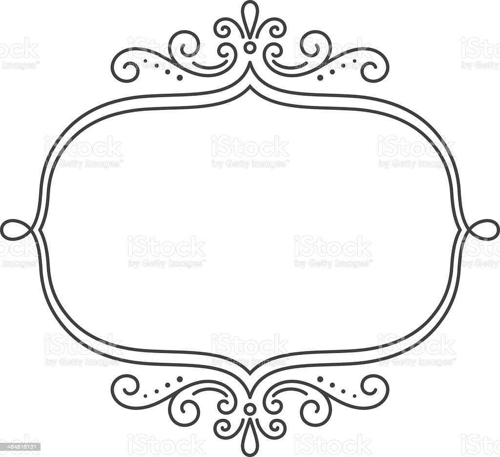 Scroll Frame vector art illustration