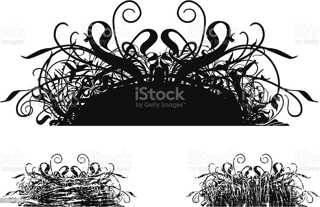 Scroll Fury Grunge vector art illustration
