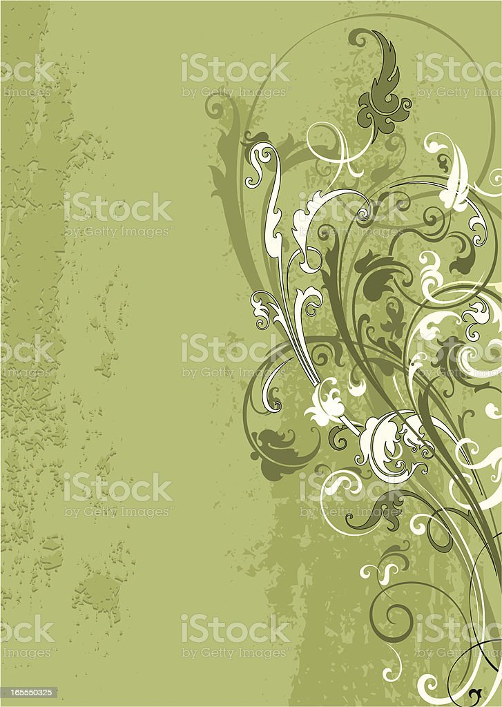 Scroll Grunge Design royalty-free stock vector art
