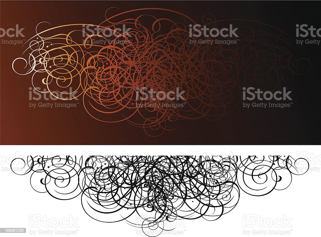 Scroll Grunge Invasion vector art illustration