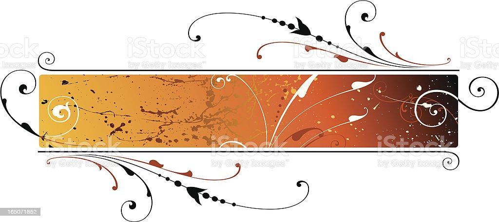 Scroll Grunge Panel vector art illustration