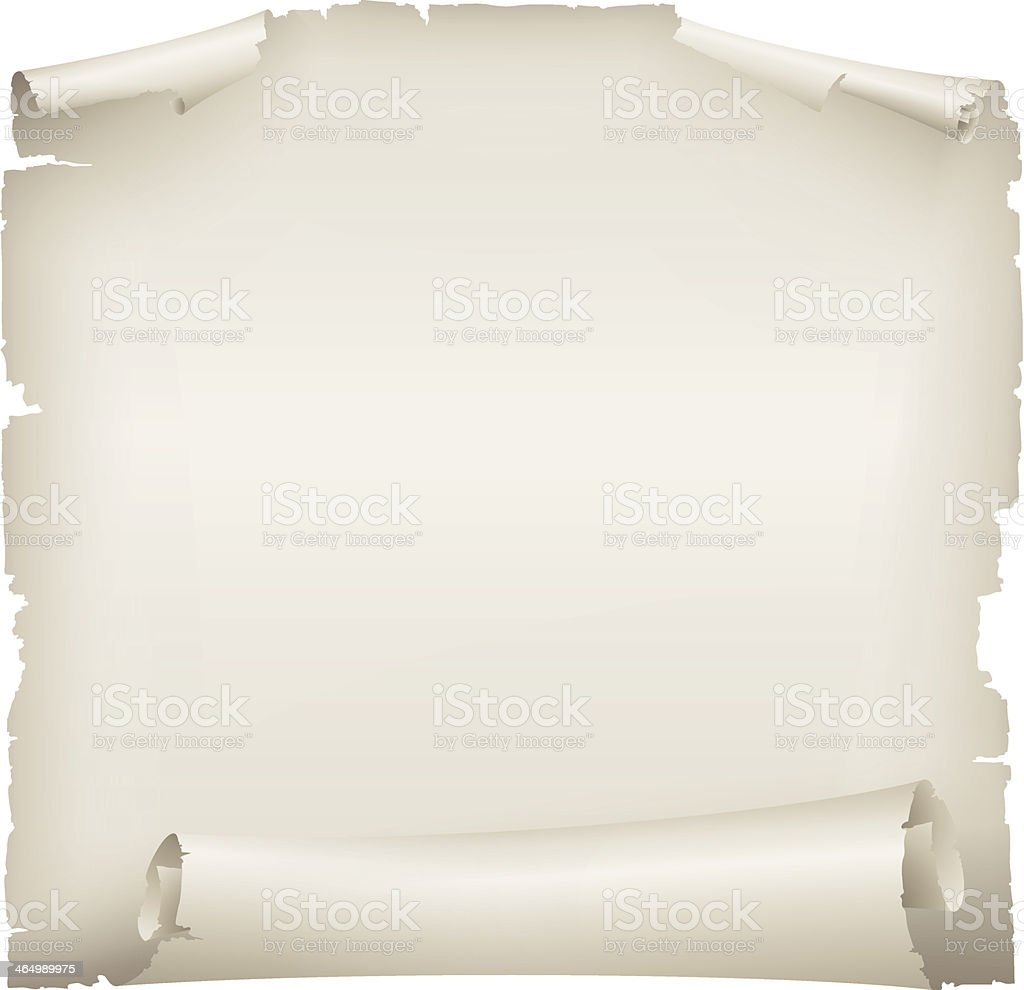 scroll of old paper vector art illustration