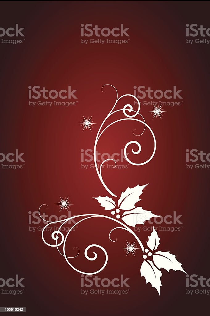 Scroll on red royalty-free stock vector art