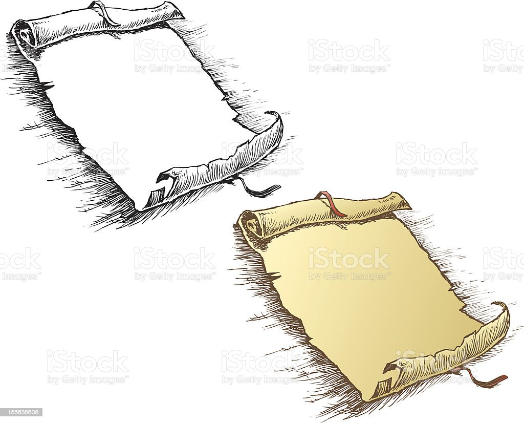 Scroll or Writing Parchment royalty-free stock vector art