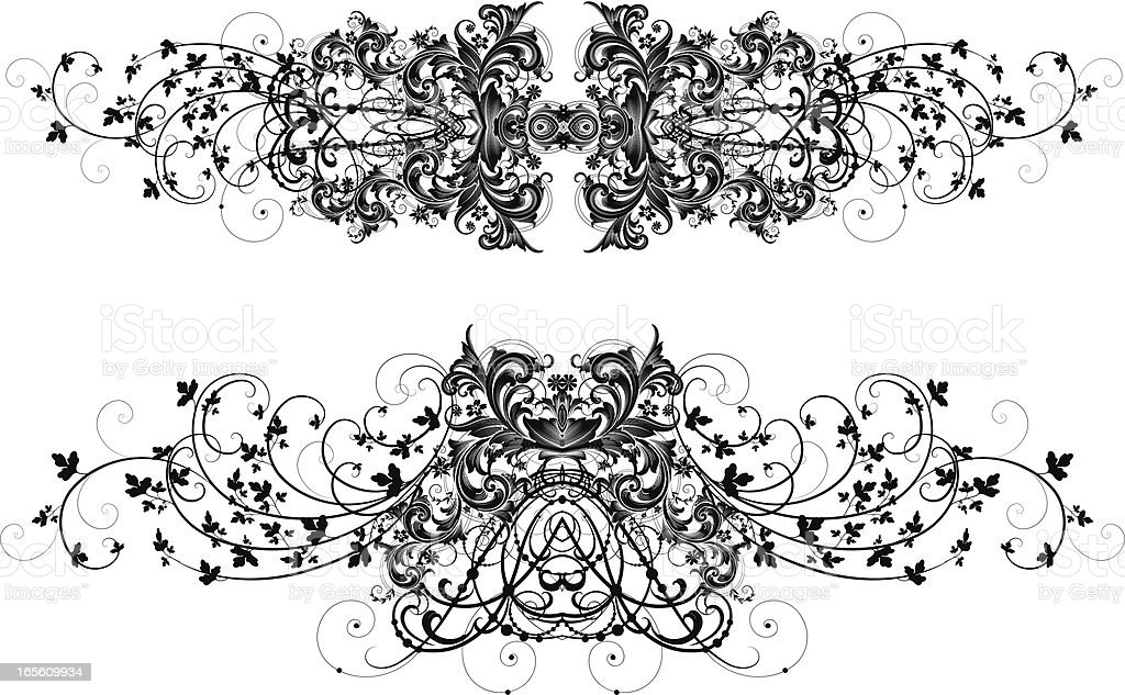 Scroll Page Dividers vector art illustration
