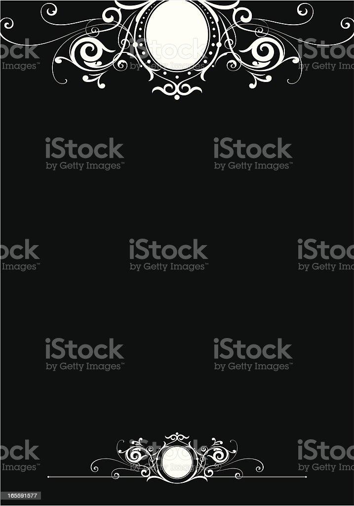 Scroll Page Letter Design vector art illustration