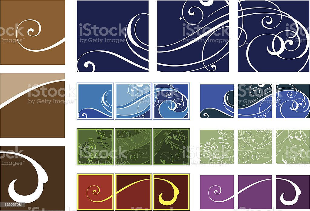 Scroll Panel Art Designs vector art illustration