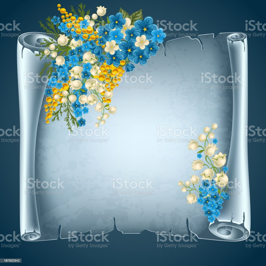 Scroll paper royalty-free stock vector art