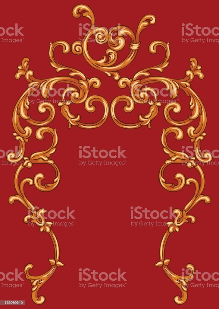 Scroll pattern royalty-free stock vector art