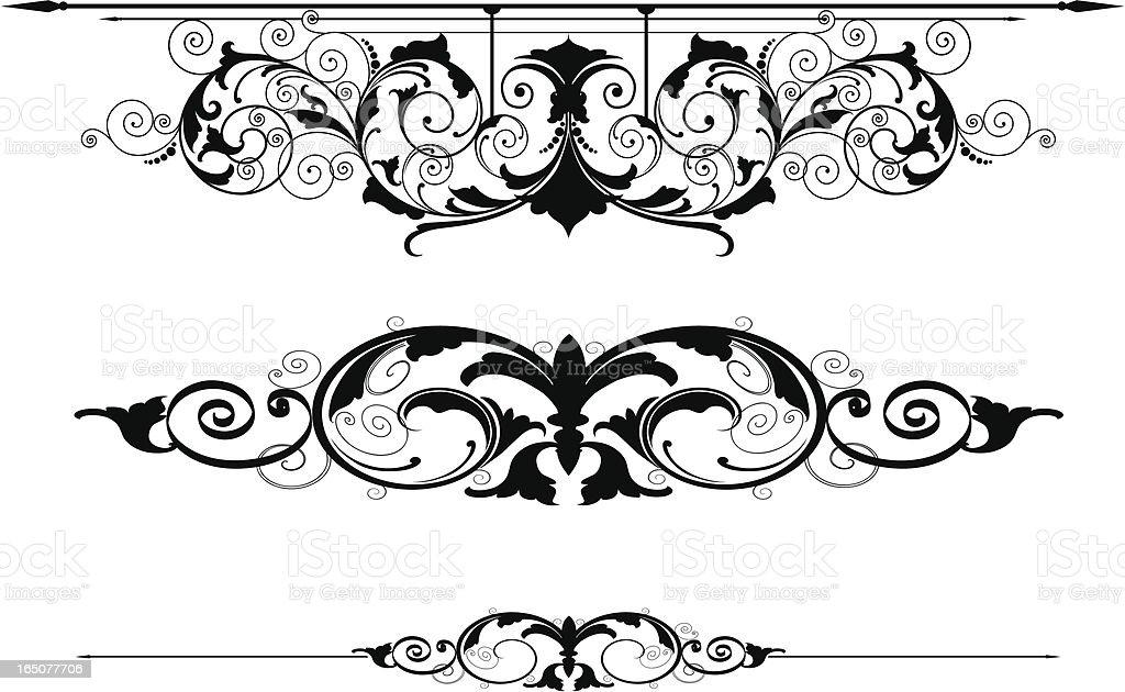 Scroll Rule Lines vector art illustration