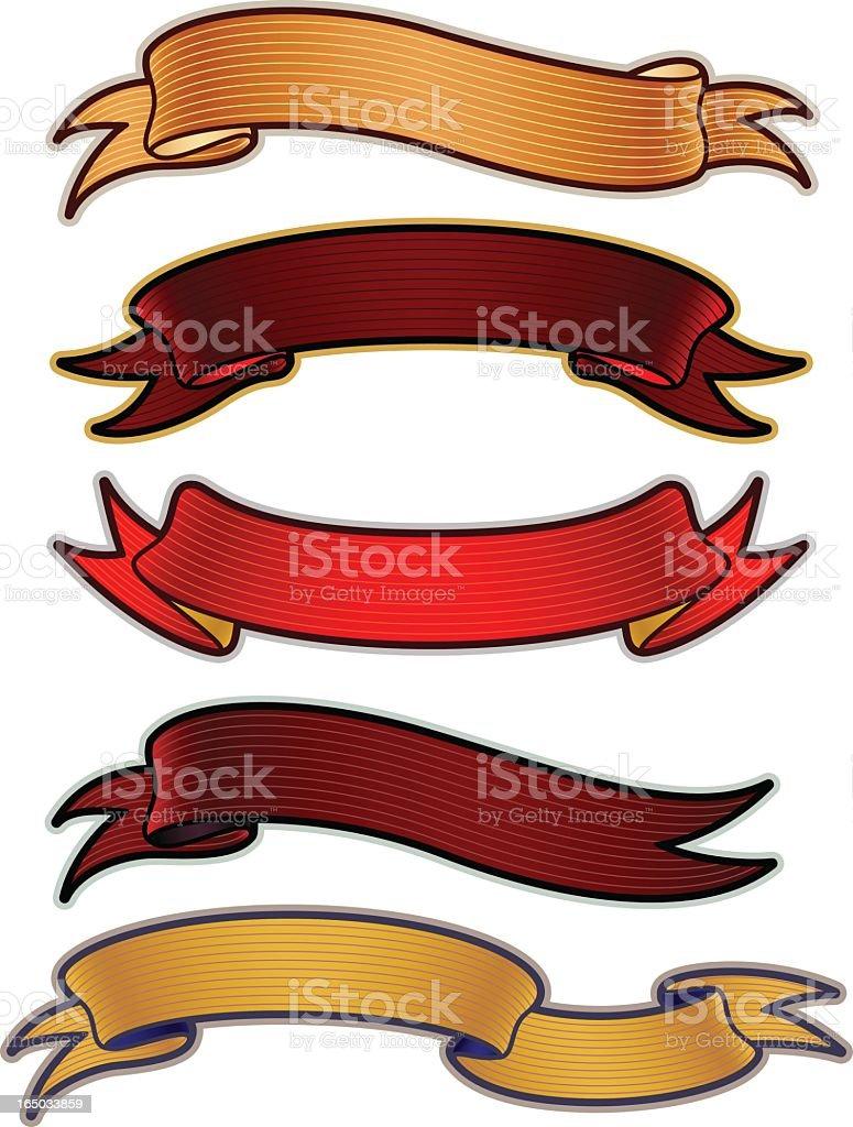 scroll set royalty-free stock vector art