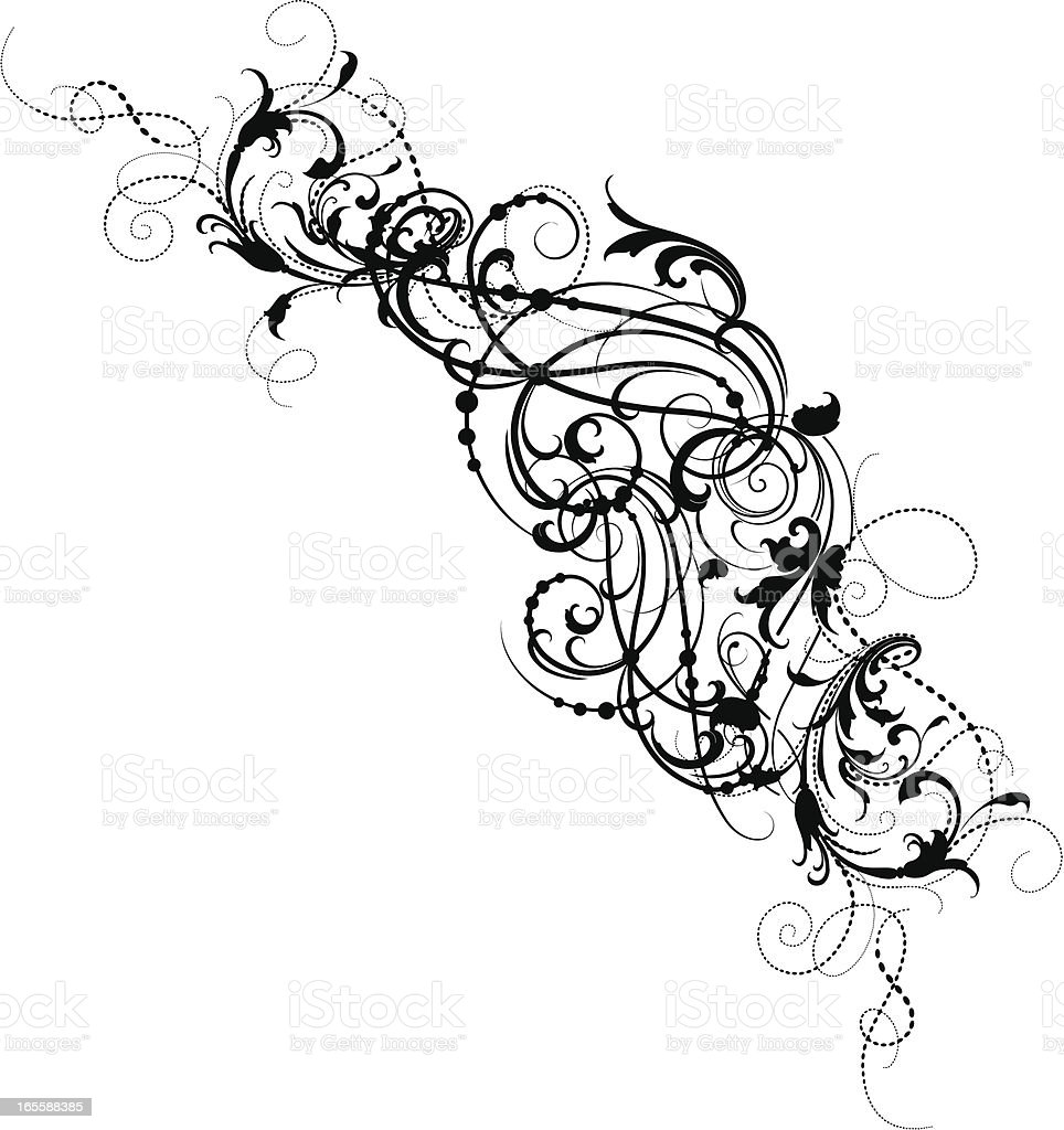 Scroll Tangle royalty-free stock vector art