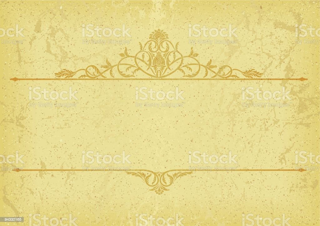 Scroll Title Rules royalty-free stock vector art