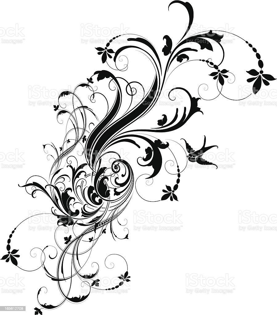 Scroll Transformation vector art illustration