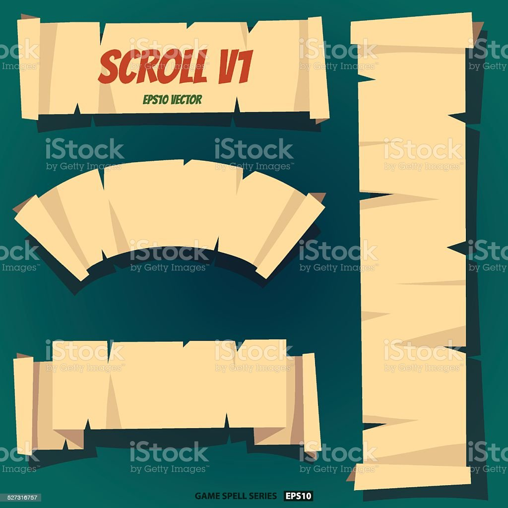 Scroll royalty-free stock vector art