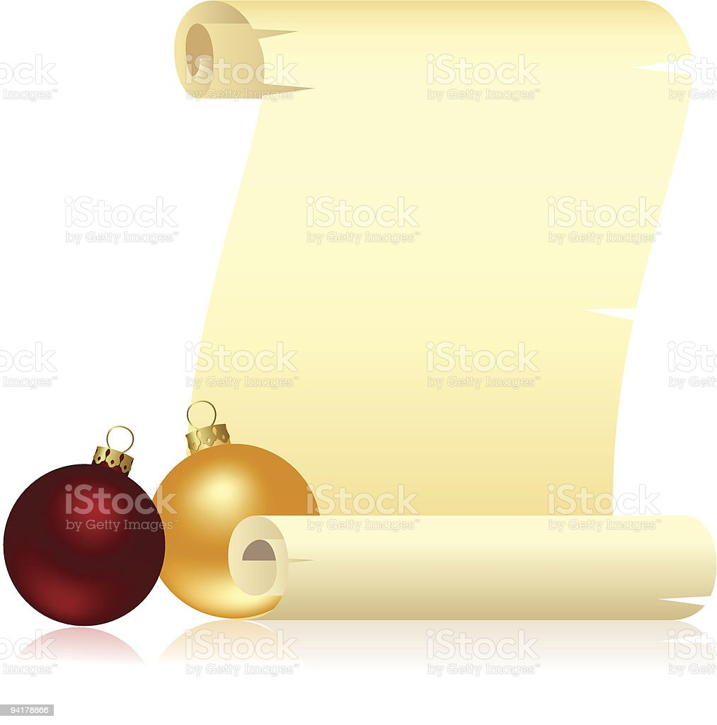 Scroll with Christmas royalty-free stock vector art