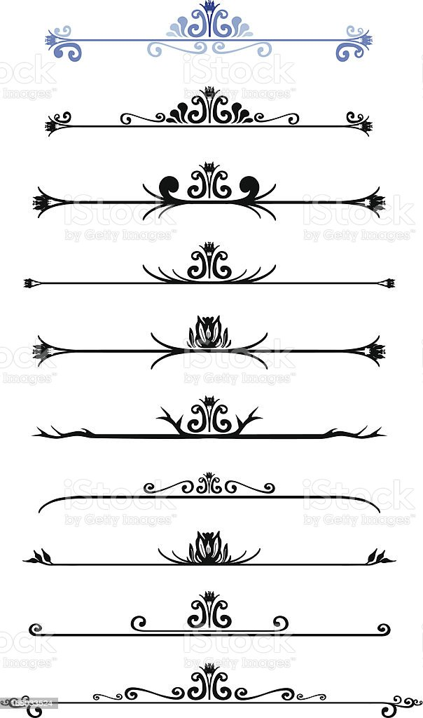Scroll Work 04 vector art illustration
