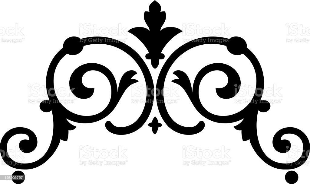 scroll1d royalty-free stock vector art