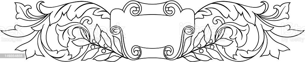 scroll27a royalty-free stock vector art