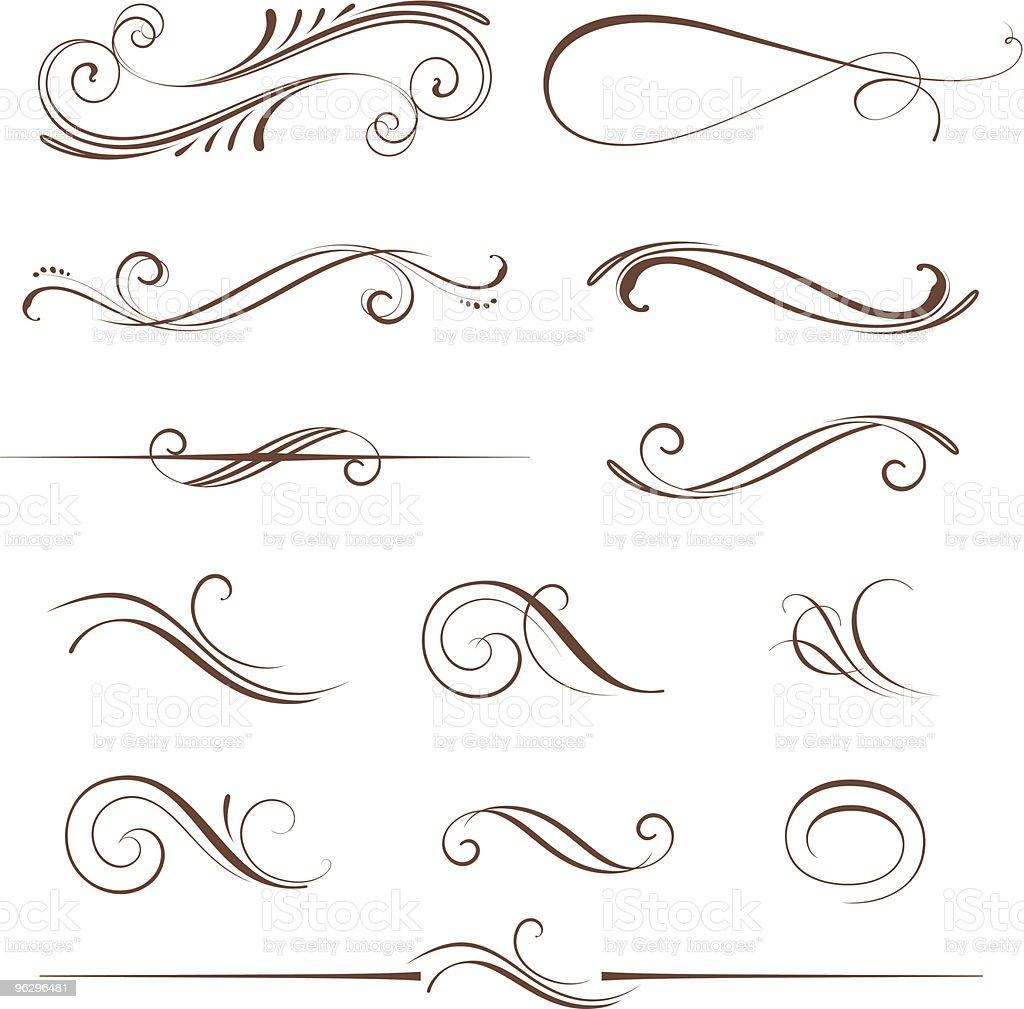 scroll_design_set royalty-free stock vector art
