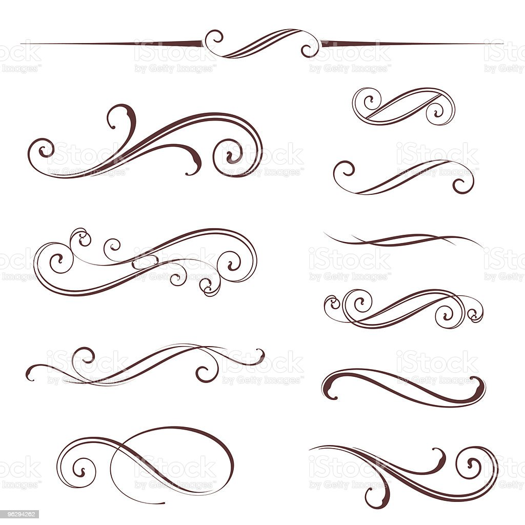 scroll_set royalty-free stock vector art