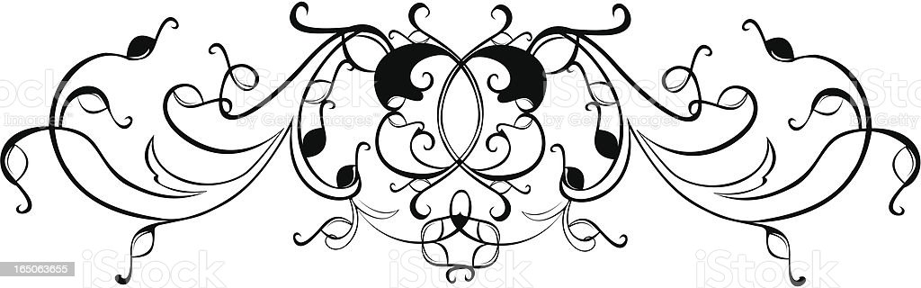 Scrolling Frame 1 royalty-free stock vector art
