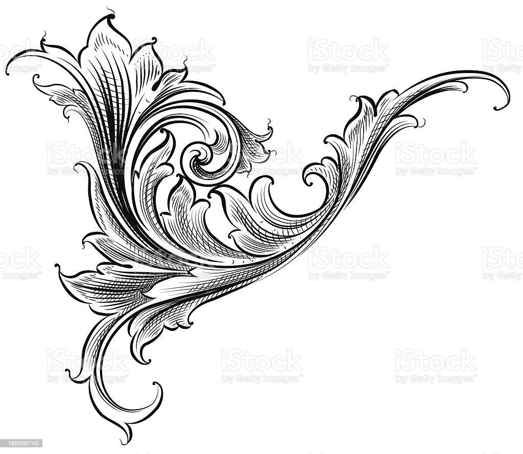Scrolling Growth vector art illustration